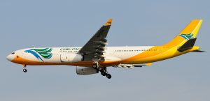 Cebu Pacific Airbus 330-300 with Rolls Royce engines.