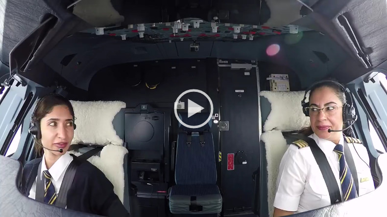 Watch Captain Nevin Darwish, the first Arab female pilot to command an A380 and First Officer Alia Al Muhairi, UAE's youngest A380 female pilot.